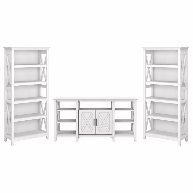 KWS027WT TV Stand and Bookcases