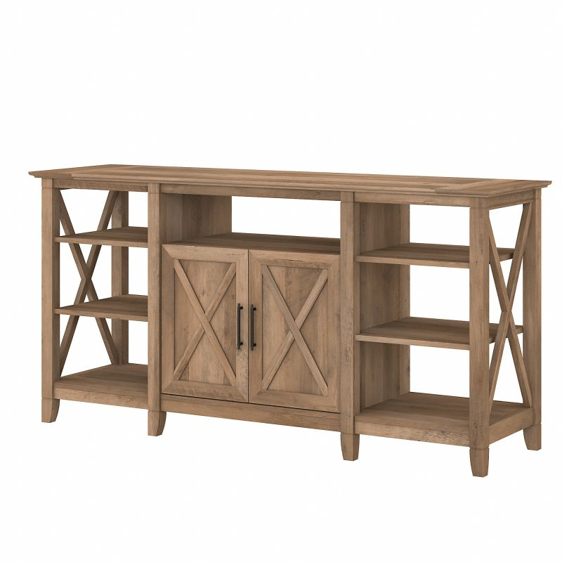 KWV160RCP-03 Bush Furniture Key West Tall TV Stand for 65 Inch TV in Reclaimed Pine