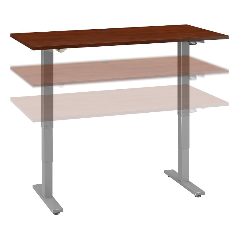 M4S6030HCSK 60W x 30D Electric Height Adjustable Standing Desk in Hansen Cherry
