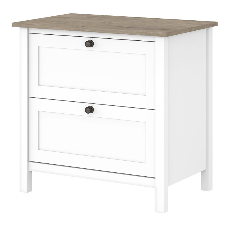 MAF131GW2-03 2 Drawer Lateral File Cabinet in Pure White and Shiplap Gray