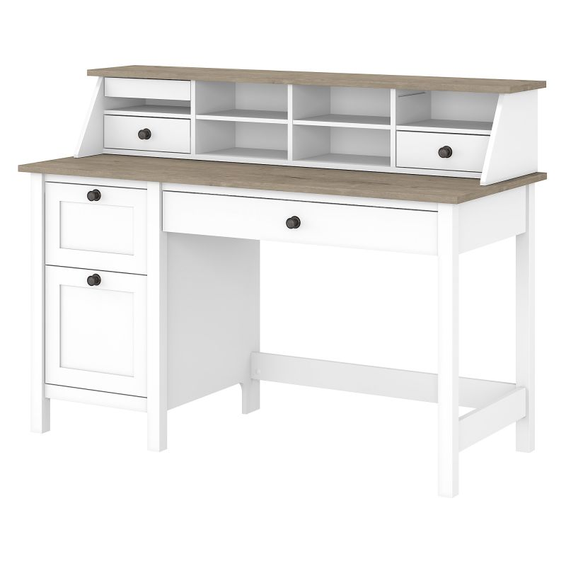 MAY003GW2 Single Pedestal Desk and Organizer