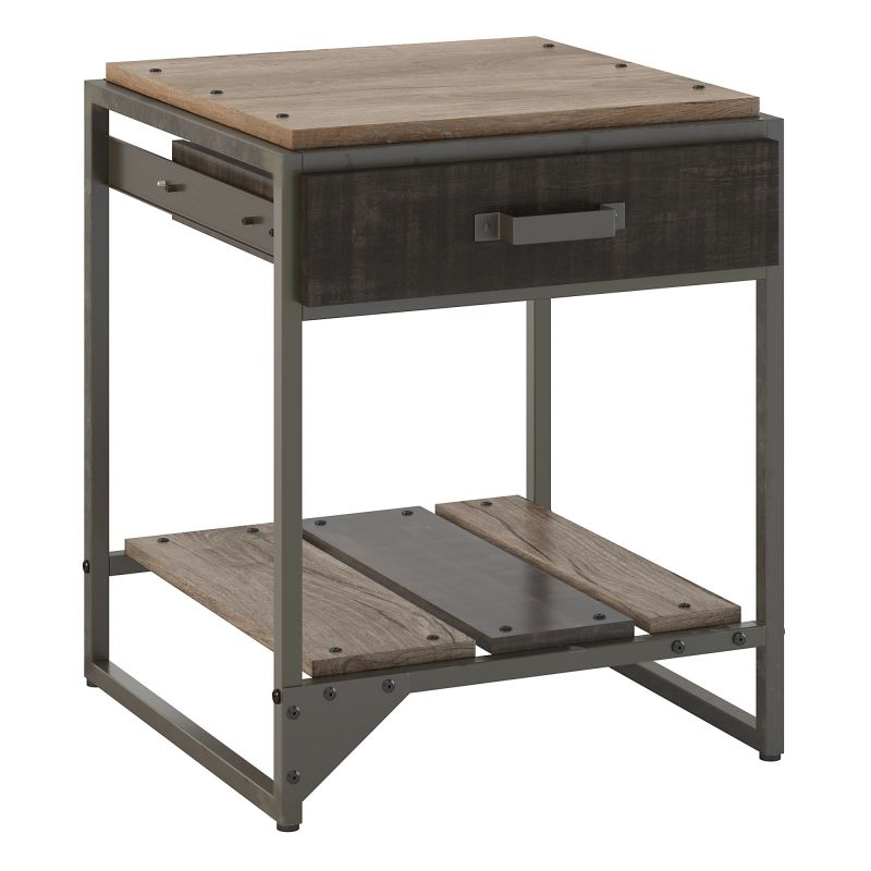 RFT120RG-03 End Table with Drawer in Rustic Gray