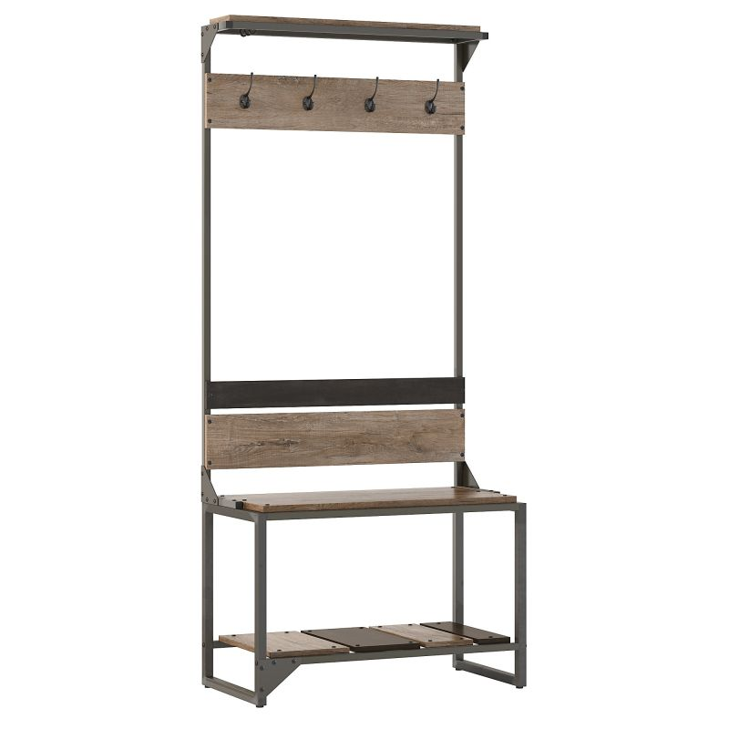 RFY012RG Shoe Storage Bench in Rustic Gray