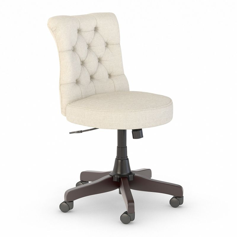 SAL009CR Bush Furniture Salinas Mid Back Tufted Office Chair in Cream Fabric