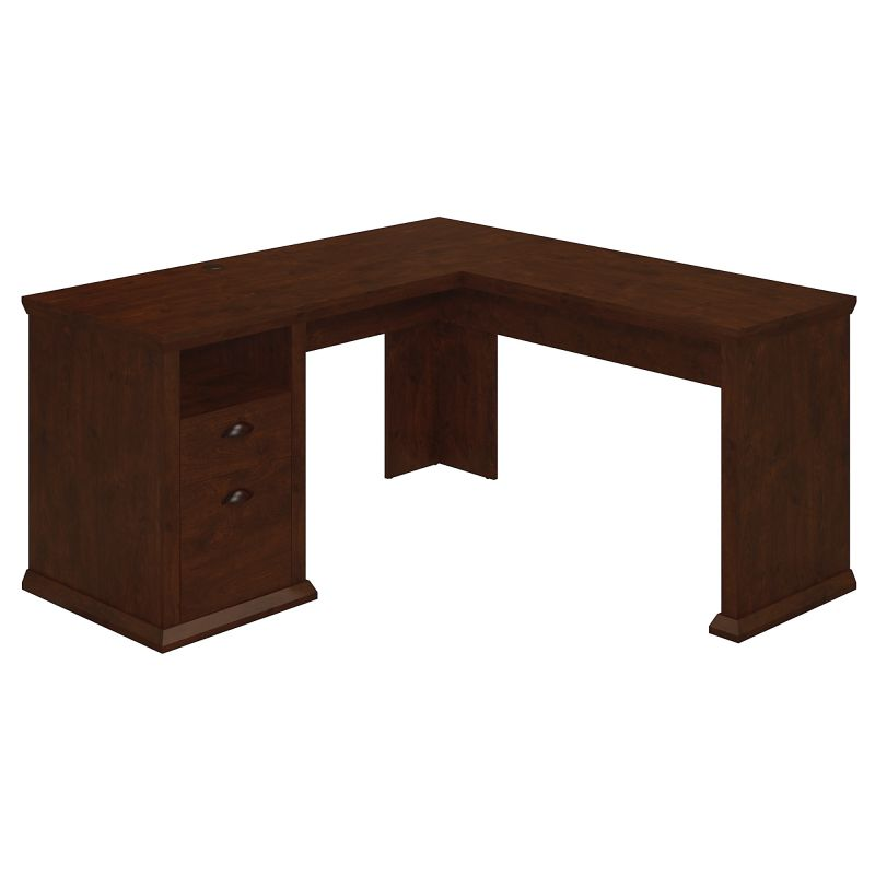 WC40330-03 L Shaped Desk in Antique Cherry
