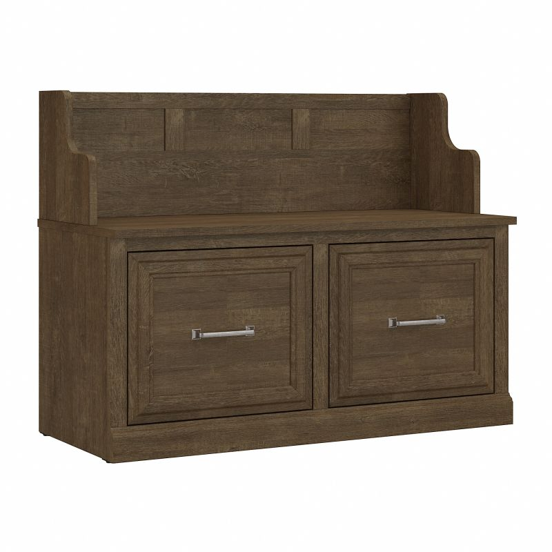 WDL005ABR Woodland 40W Entryway Bench with Doors in Ash Brown