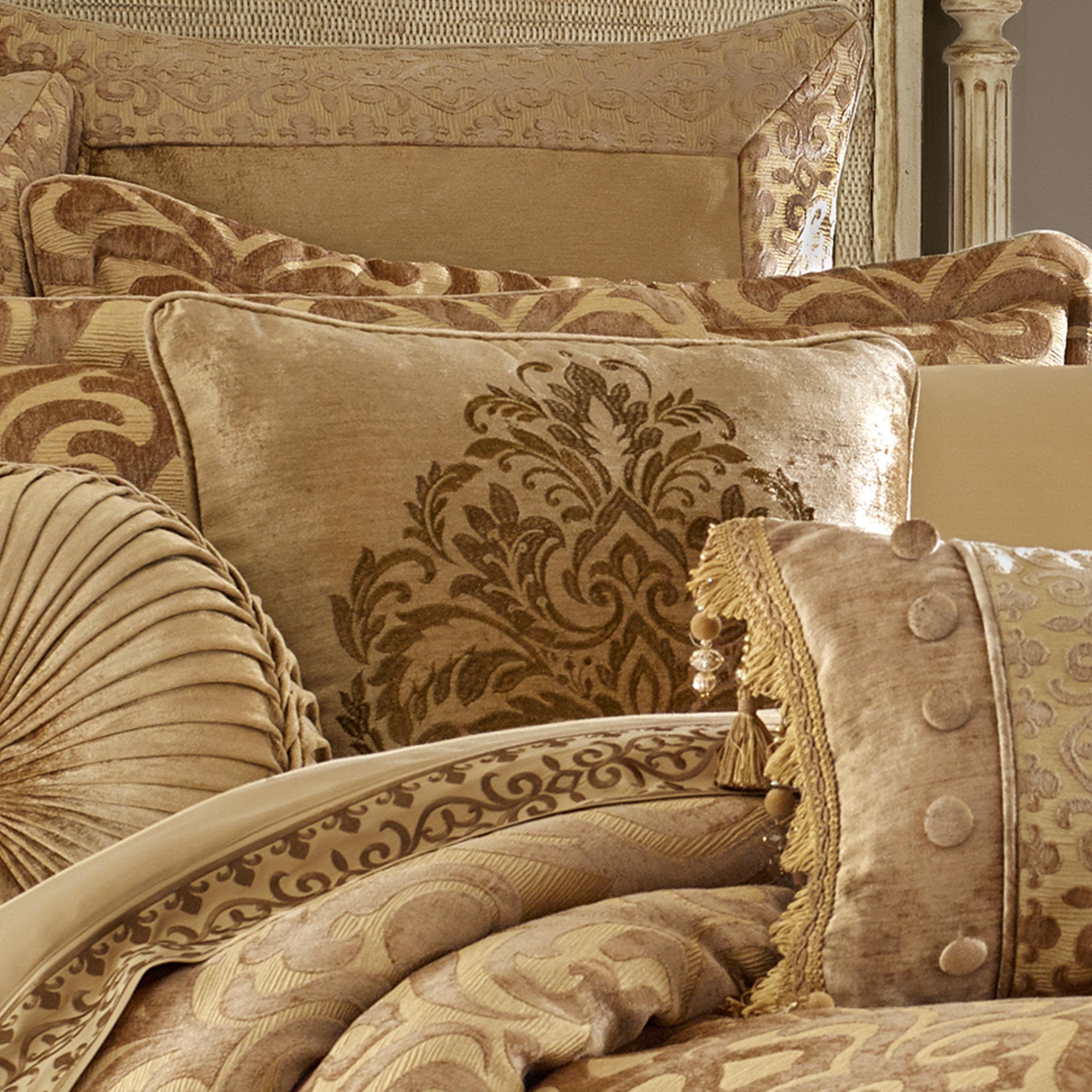 Sicily Gold Queen 4 Piece Comforter Set