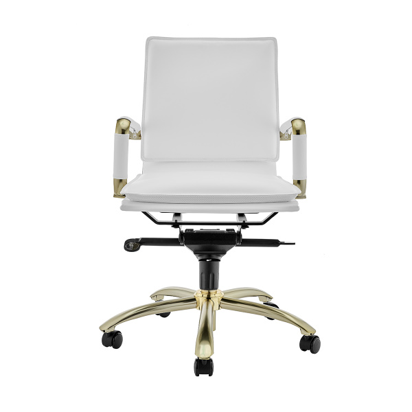 01263WHTMBG Gunar Pro Low Back Office Chair