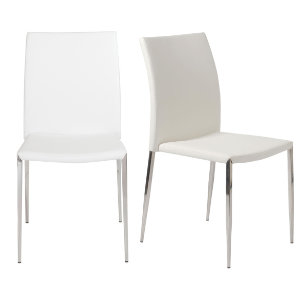 02348WHT-MP2 Diana Stacking Side Chair (Set of 2)