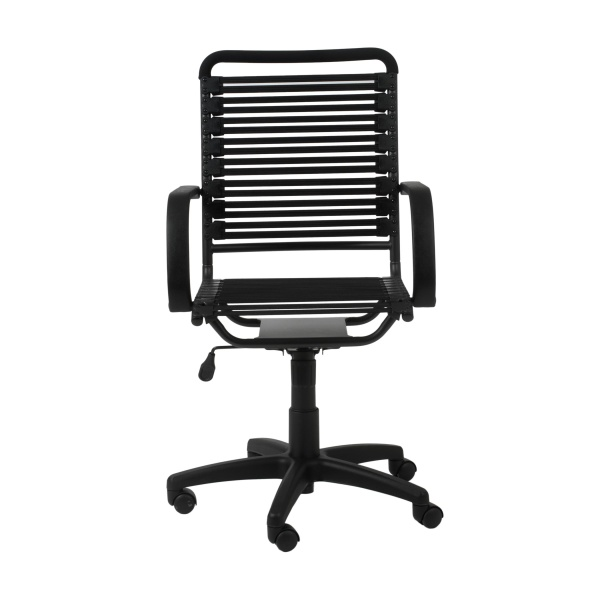 02570BLK Bungie Flat High Back Office Chair