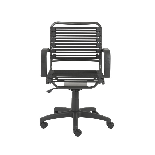 02572BLK Bungie Flat Mid Back Office Chair
