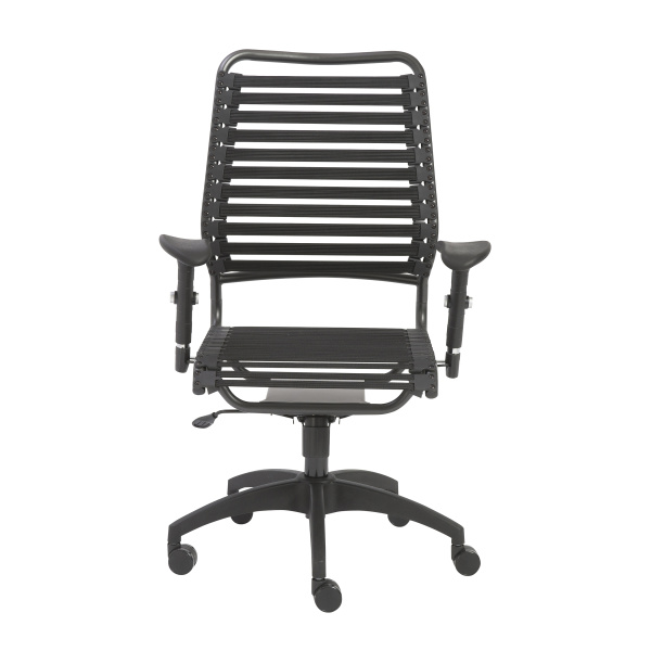 02971BLK Baba Flat High Back Office Chair