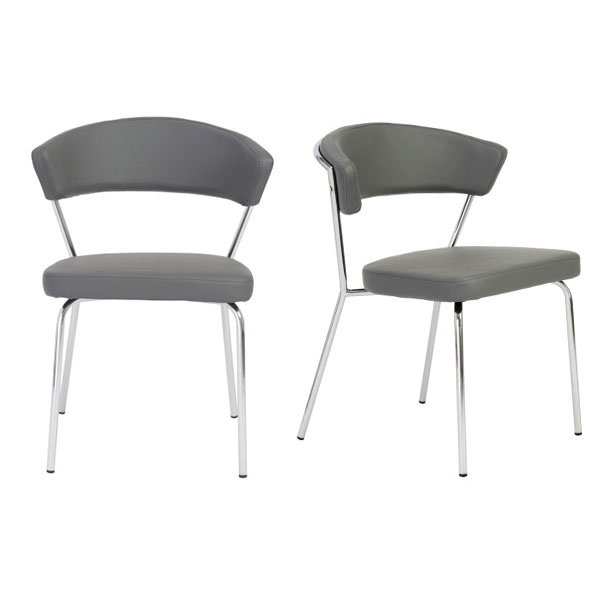 05095GRY-MP2 Draco Side Chair  (Set of 2)