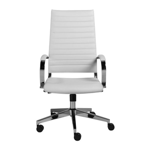 10476WHT Brooklyn High Back Office Chair