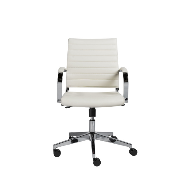 10477WHT Brooklyn Low Back Office Chair