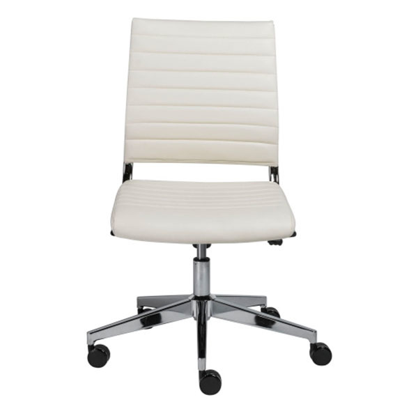 10478WHT Brooklyn Low Back Office Chair w/o Armrests