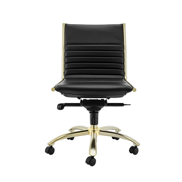 10676BLKMBG Dirk Low Back Office Chair w/o Armrests