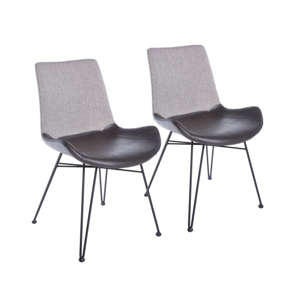 17635LTGRY Alisa Side Chair (Set of 2)