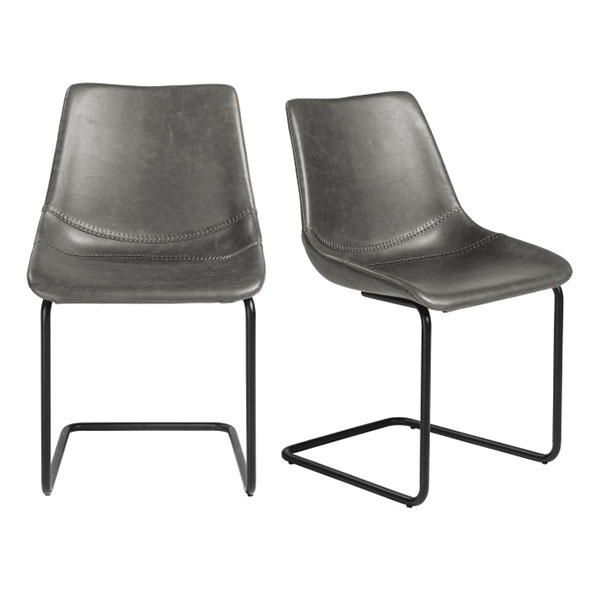 30486DKGRY Flynn Side Chair  (Set of 2)
