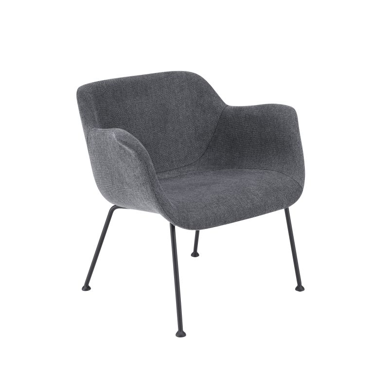 30542DKGRY Daphne Lounge Chair in Dark Gray