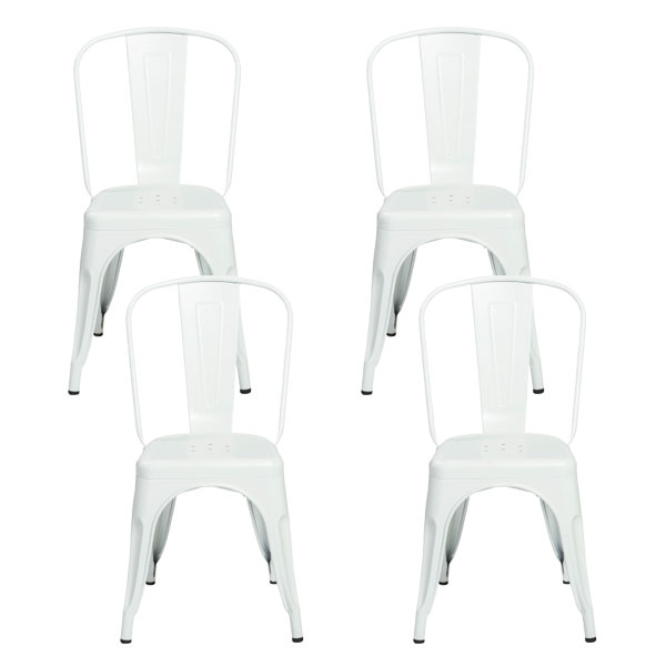 94210MTWHT Corsair Stacking Side Chair (Set of 4)