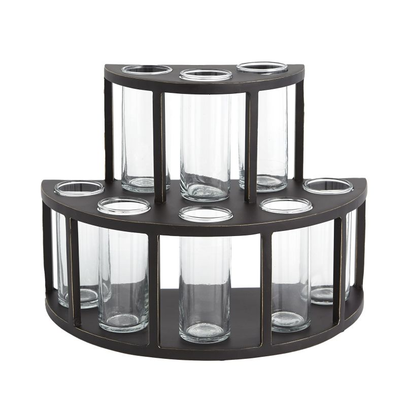 9.93558 Global Views 2 Tier Tube Flower Holder-With Glass Tubes 9.93558
