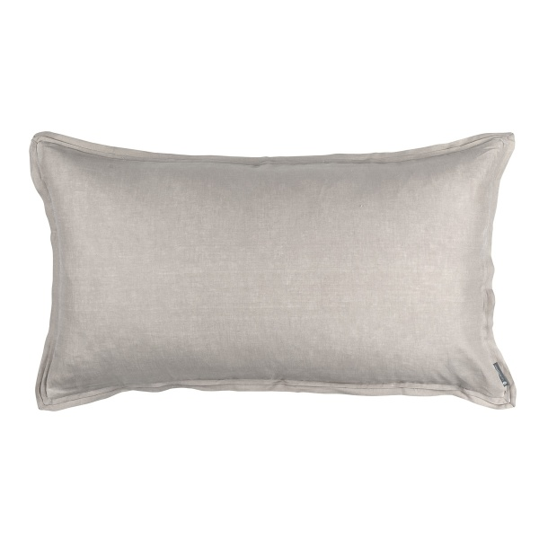 Bloom King Double Flange Pillow Raffia Linen 20x36 (Insert Included)