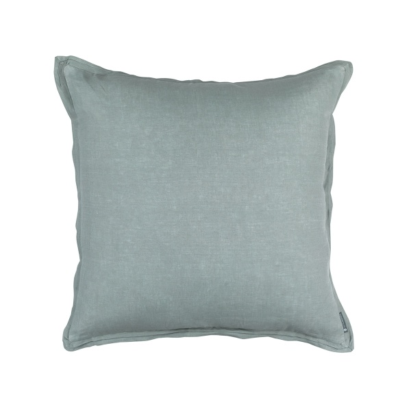 Bloom Euro Double Flange Pillow Sky Linen 26x26 (Insert Included)