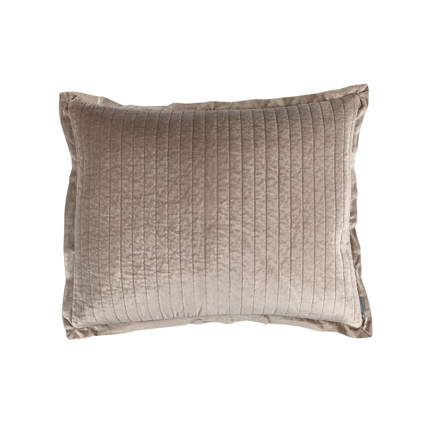 Aria Quilted Standard Pillow Raffia Matte Velvet 20x26 (Insert Included)