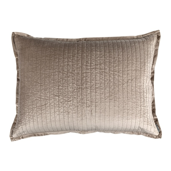 Aria Quilted Luxe Euro Pillow Raffia Matte Velvet 27x36 (Insert Included)