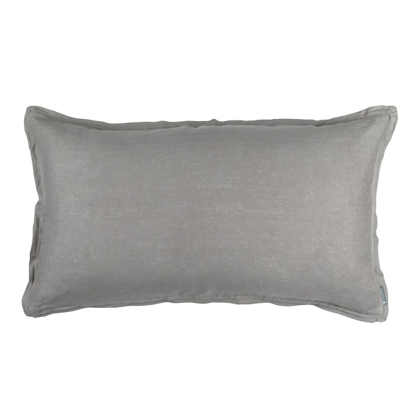Bloom King Double Flange Pillow Light Grey Linen 20x36 (Insert Included)