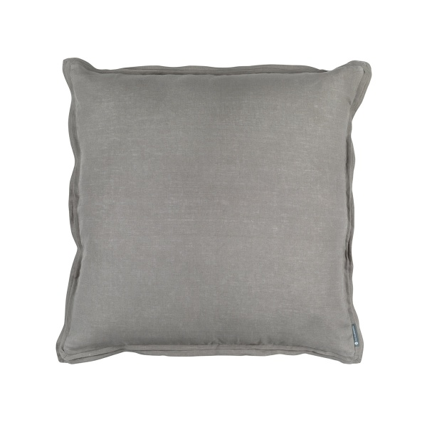 Bloom Euro Double Flange Pillow Light Grey Linen 26x26 (Insert Included)