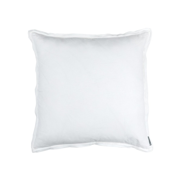 Bloom Euro Double Flange Pillow White Linen 26x26 (Insert Included)
