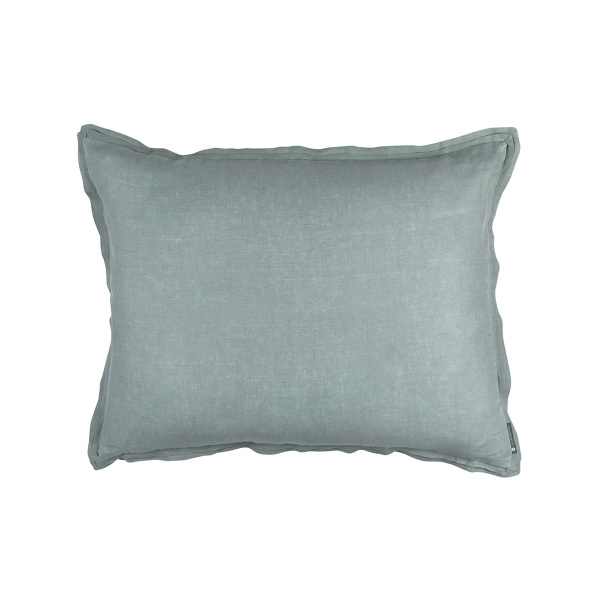 Bloom Standard Double Flange Pillow Sky Linen 20x26 (Insert Included)