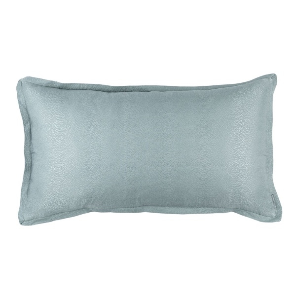 Gia King Pillow Blue Cotton & Silk 20x36 (Insert Included)