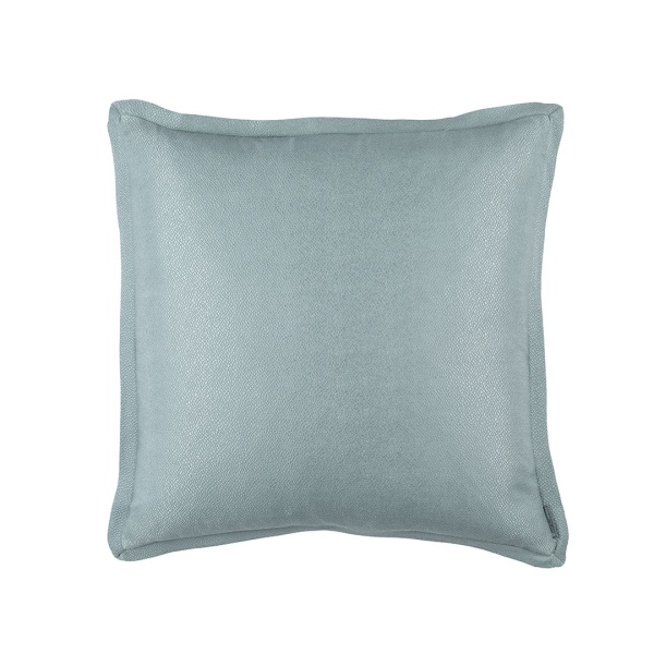 Gia European Pillow Blue Cotton & Silk 26x26 (Insert Included)