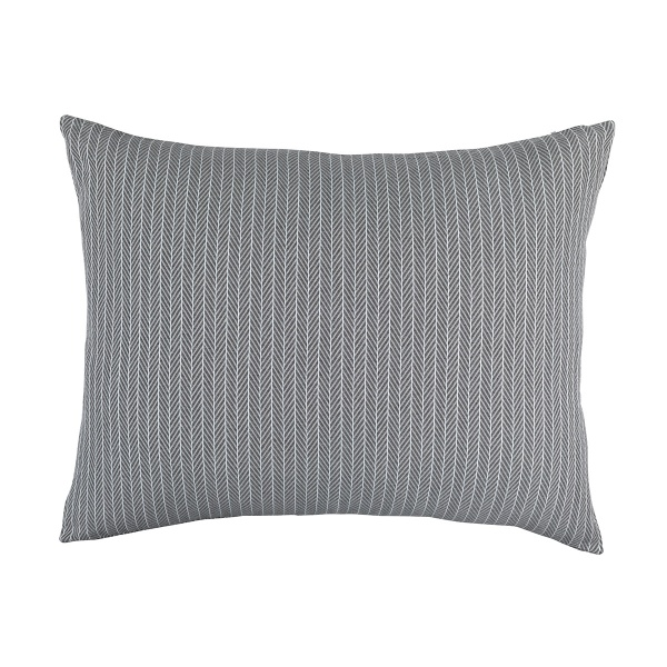 Chevron Luxe Euro Pillow Grey/White Cotton 26x35 (Insert Included)