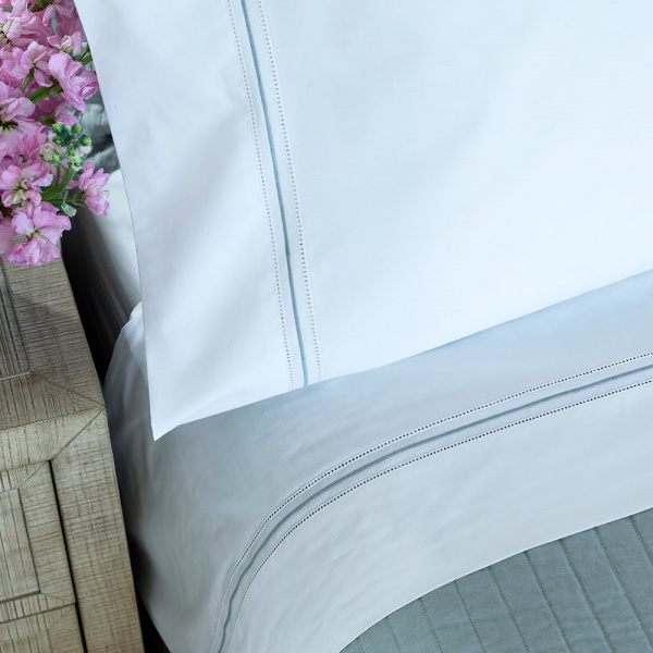 Bella White With Spa Standard 300TC Pillowcases (Set of 2)