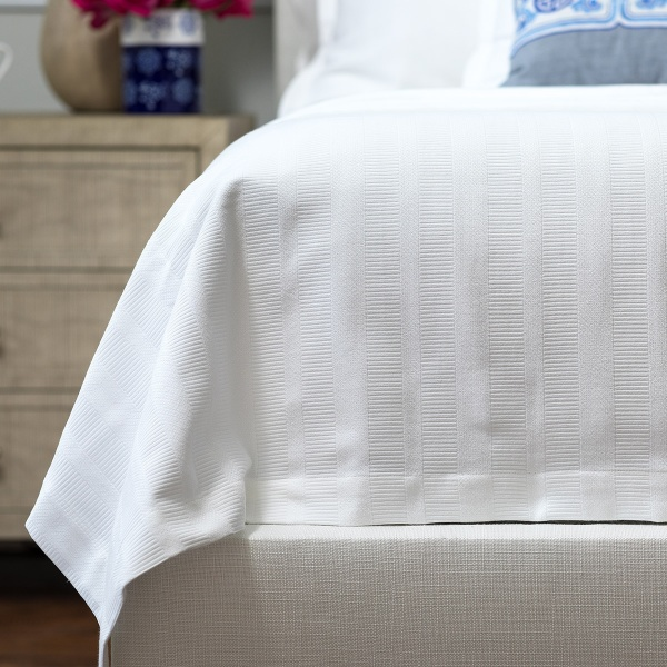 Stela Queen Matelasse Blanket White Cotton 96x98 (Washable)