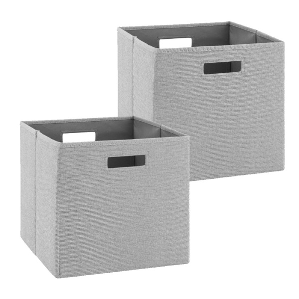 BN100GRY02AS Galli Storage Bin Grey - Set of Two