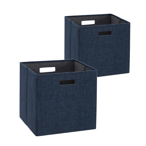 BN100NAVY02AS Galli Storage Bin Navy 2pk