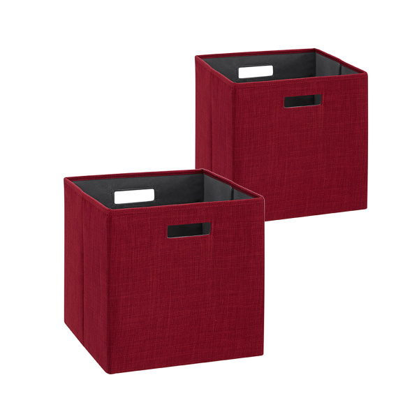 BN100RED02AS Galli Storage Bin Red 2pk