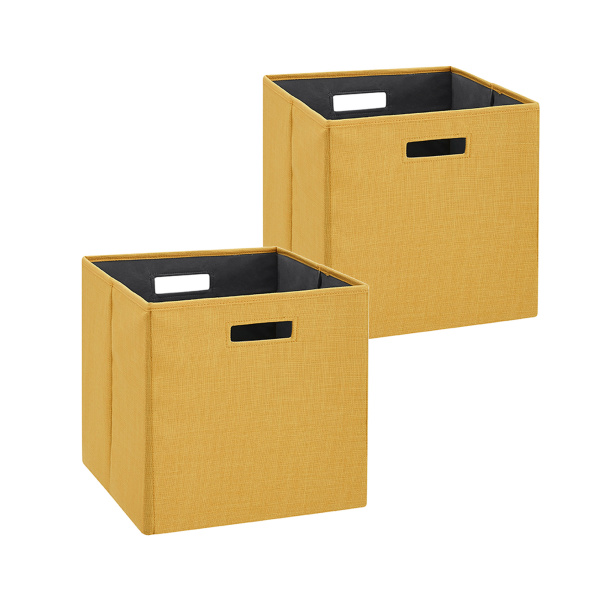 BN100YELLW02AS Galli Storage Bin Yellow 2pk