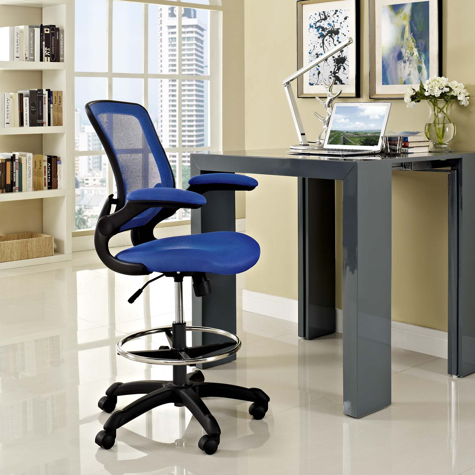 Veer Drafting Chair Blue