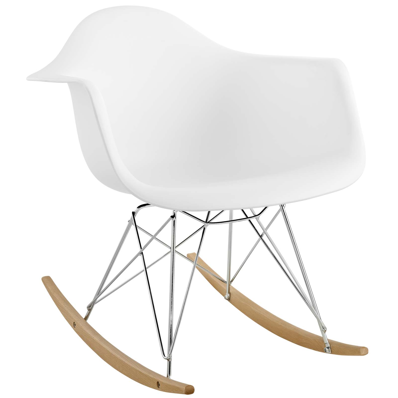 Rocker Plastic Lounge Chair White