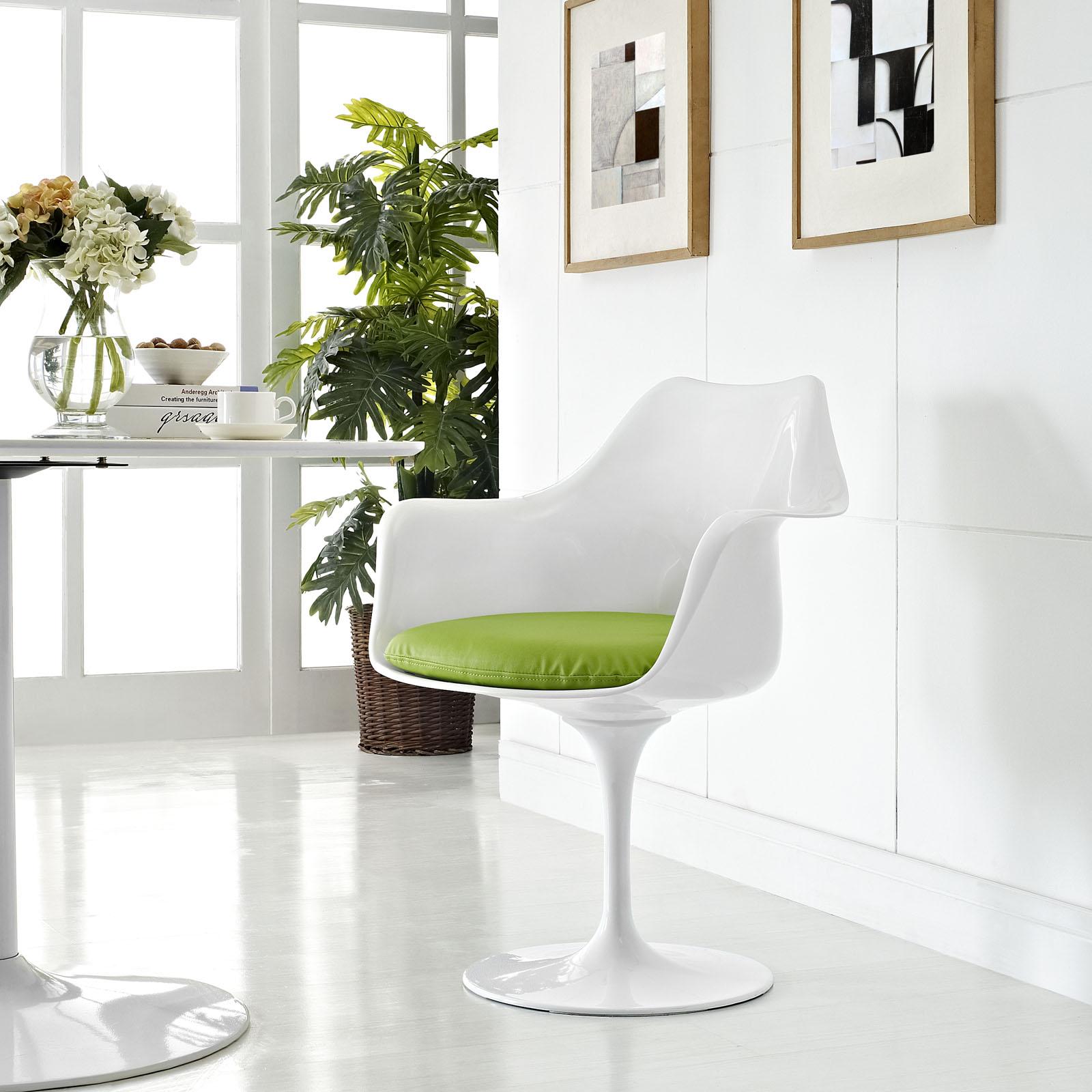 Lippa Dining Vinyl Armchair Green