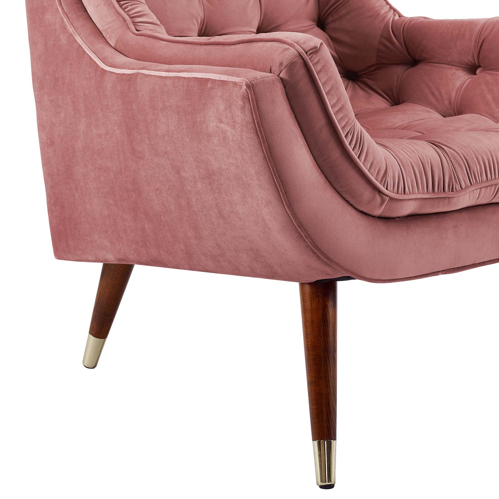Suggest Button Tufted Upholstered Velvet Lounge Chair