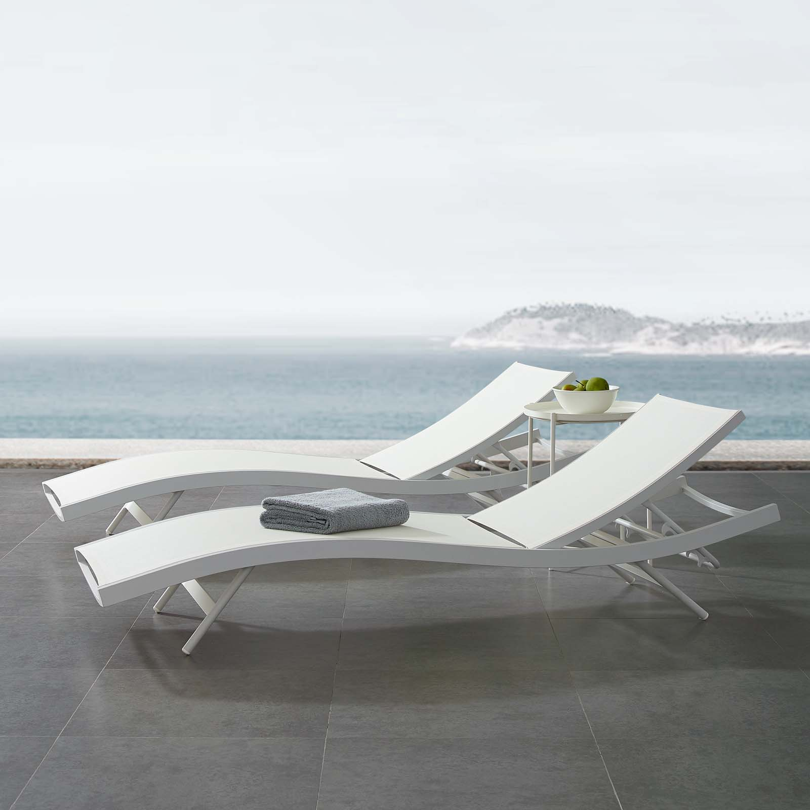 Patio Mesh Chaise Lounge Chair Previous Picture Next Eei 3300 Whi 7
