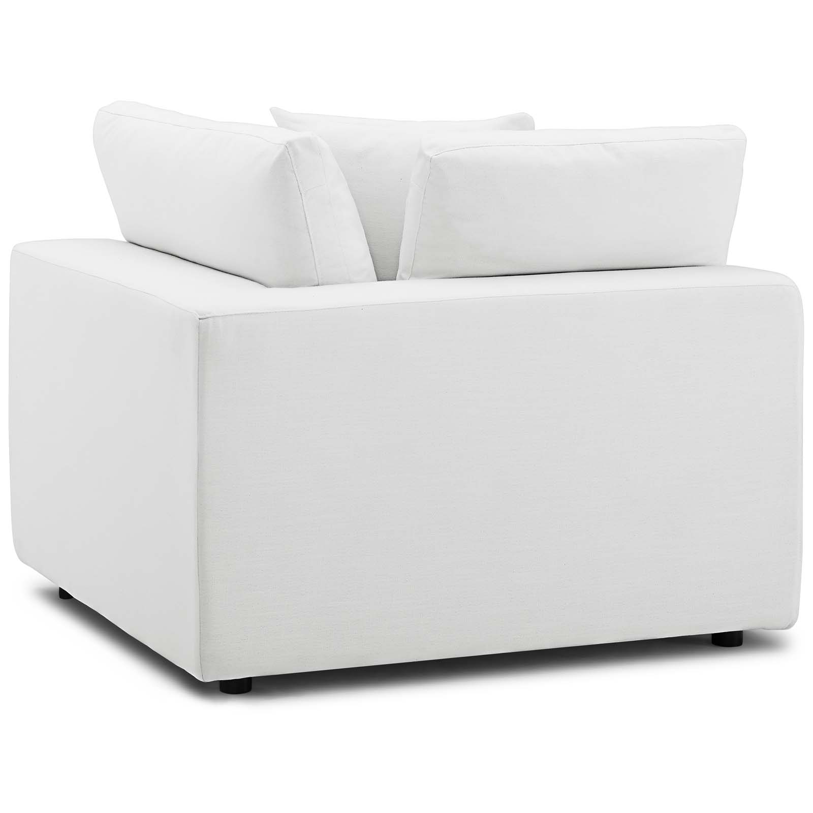 Commix Down Filled Overstuffed 6 Piece Sectional Sofa Set White