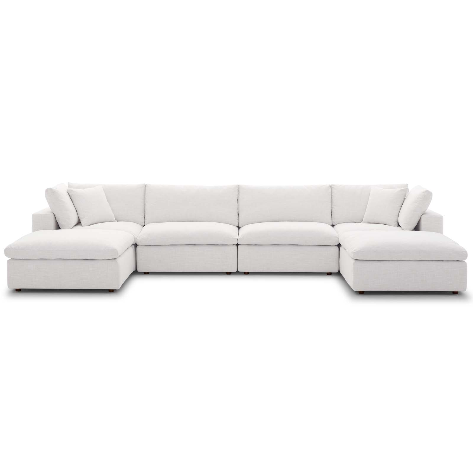Picture of: Commix Down Filled Overstuffed 6 Piece Sectional Sofa Set Beige